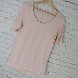 Lululemon Shirt Top Womens Size 6 Light Pink